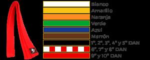cinturones de judo colores